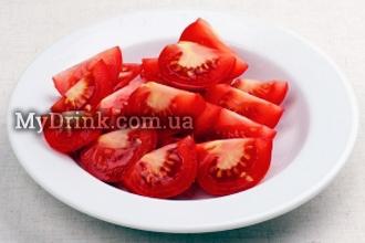 Салат с помидорами и мятой 4
