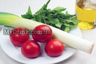 Салат с помидорами и мятой 5